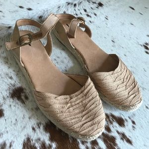 Joie grosgrain ribbon sarin leather espadrille